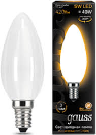 <b>Лампа GAUSS Filament Свеча</b> OPAL E 14 5W 2700К 103201105 ...