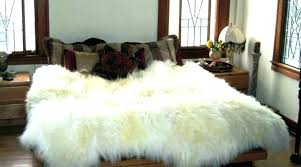 white faux fur rug fur rugs faux skin rug grey faux fur small faux