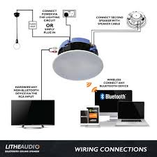 lithe audio 6 5 bluetooth wireless ceiling speakers pair lithe audio bluetooth ceiling speaker wiring guide