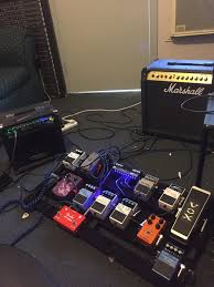 npd x2 boss cs3 and fender aby i liked the sound of the boss cs3 so i bought one and i needed an aby so a fender aby was my choice i run my storm 15 as the dry