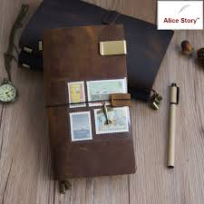 100% <b>Genuine Leather Traveler's Notebook travel Diary Journal</b> ...