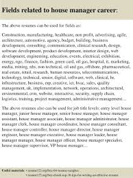 top 8 house manager resume samples chief baker resume