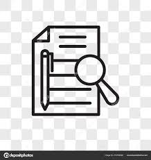 Executive Sumary Executive Summary Vector Icon Isolated On Transparent Background