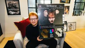 Ed Sheeran Named Number One Artist Of The Decade Bt