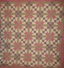 Vintage 1960-New Quilts & Two new matching Jacobs Ladder/Star Quilts in muted tan and rose which  looks beautiful in almost any decor. Great Optical Illusion in expensive  fabrics. Adamdwight.com