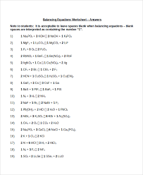 chemfiesta balancing equations worksheet answers jennarocca
