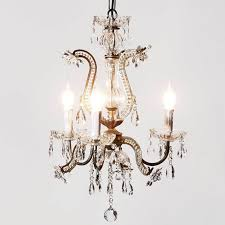 sienna metal and glass french chandelier vintage image 3