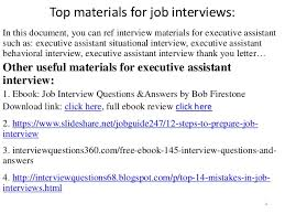 Interview Questions For Executive Assistants Top 36 Executive Assistant Interview Questions And Answers