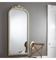 Nice Ideas Long Wall Mirrors Creative Inspiration Eden Shabby Chic Dome  Long Vintage White Wall Mirror