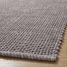 della grey cotton flat weave rug 2x3
