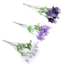<b>1Pcs Artificial Lavender Silk</b> Flower Bouquet Wedding Home Party ...