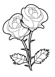 pretty rose coloring pages for girls | Just Colorings