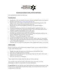 12 useful materials for cook sample resume prep cook resume prep