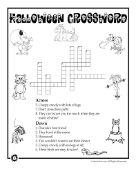 Halloween Mazes and Word Puzzles Halloween Animals Crossword ...
