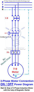on off 3 phase motor connection control diagram electrical 3 Phase Starter Wiring Diagram on off three phase motor connection control diagram 3 phase motor starter wiring diagram