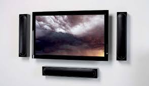 flat screen tv on wall with surround sound. fully concealed wall mounted speakers flat screen tv on with surround sound w