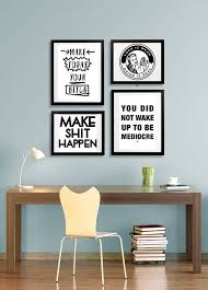 cool office decor. office decor idea modern motivational style cool prints quote poster cubicle