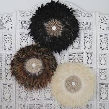 round feather wall art