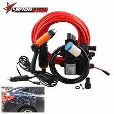Araba yıkama yüksek basınçlı çakmak bakım taşınabilir yıkama makinesi  elektrikli temizleme otomatik cihaz 12V 100W evrensel araba|Water Gun &  Snow Foam Lance