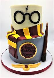 2 Tier Harry Potter Themed Girls Birthday Cake By Flavor Cupcakery