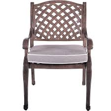 brown patio chair and cushion castle rock