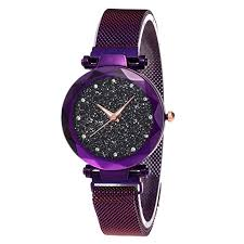 <b>Starry</b> Sky Quartz <b>Watch</b> - <b>Diamond</b> Cutting Glass Mirror, with Mesh ...