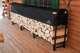 firewood storage outside backyard patio rustic house design with hardwood floor tiles and outdoor firewood storage