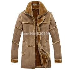 fashion men winter leather jacket brown leather jacket big size faux fur lined coats winter faux
