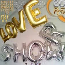 20pc lot Alphabet font b balloons b font Birthday Party supplies font b Letter b font