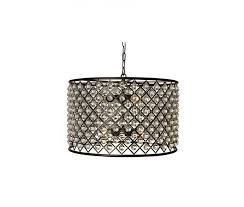 cassiel crystal drum chandelier black
