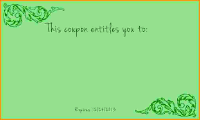 I Owe You Coupon Template Book Free Printable Love Coupons And
