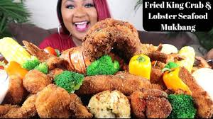 LOBSTER FRIED SEAFOOD BOIL MUKBANG ...