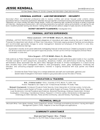 Criminal Justice Entry Level Resume Examples Objective Customer
