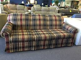 plaid sofa broyhill broyhill sofa