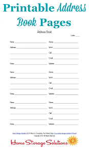 Address Book Template Free Free Printable Address Book Pages Get Your Contact