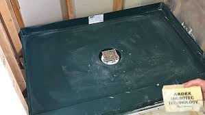 picture of how to install custom shower pans in less than 2 hours