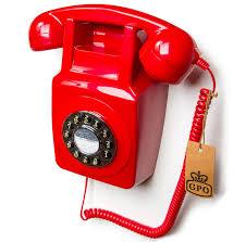 gpo 746 retro wall telephone red