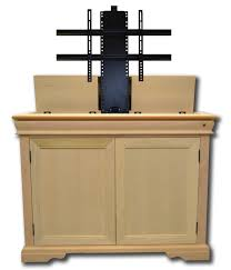 The Tremont Unfinished TV Lift Cabinet For Flat Screen TVs Up To - Bedroom tv lift cabinet