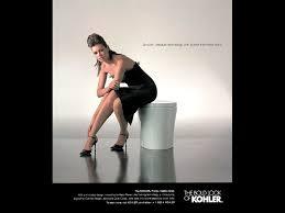 Naked woman in kohler ad