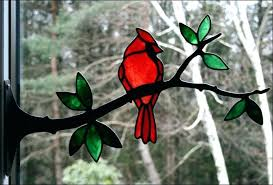 birds on a wire stained glass pattern birds on a wire stained glass single only cardinal birds on a wire stained glass pattern