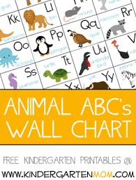 Animal Abc Chart Alphabet Animals Kindergarten Mom