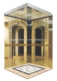 luxury residential elevators. golden titanium residential elevator cabin/ luxury decoration home lift cabin elevators