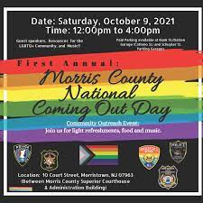 Morris County National Coming Out Day planned for October 9 – Morris  County, NJ