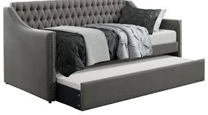 Ava Hill Dark Gray Daybed with Trundle - Traditional