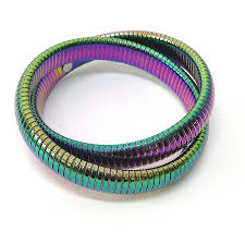 custom made high quality jewelry colorful elastic bangle whole bracelet for women