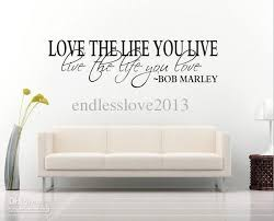 bob marley quote wall decal decor love life wall sticker vinyl intended for popular household decorative wall quotes plan on wall art lettering quotes with wall art design ideas house rule decorative wall art decals quote