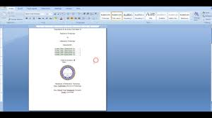 Project Cover Page Template Format Of Project File Lab File Cover Page YouTube 21