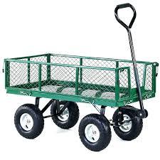 4 wheel garden cart large garden cart garden trolleys garden utility cart large metal 4 wheel