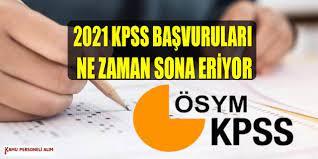 2021 KPSS Başvuruları Ne Zaman Bitiyor (KPSS Sınav Takvimi)