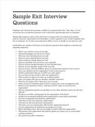 Employee Exit Interview Template Word Unique Sample Of Employee ...